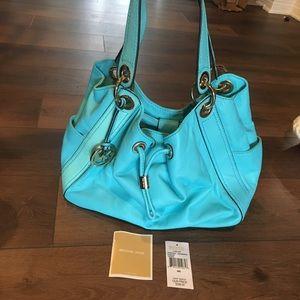 Michael Kors Ludlow purse in rare Aquamarine
